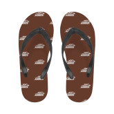 Ladies Full Color Flip Flops-Official Logo