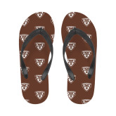 Ladies Full Color Flip Flops-Bonnies Shield