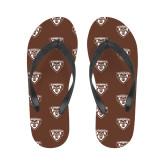 Ladies Full Color Flip Flops-Bonnies Shield