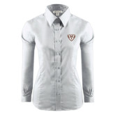 Ladies Red House White Long Sleeve Shirt-Bonnies Shield
