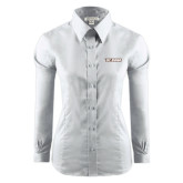 Ladies Red House White Long Sleeve Shirt-St. Bona