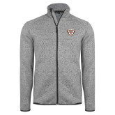 Grey Heather Fleece Jacket-Bonnies Shield