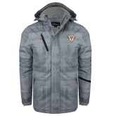 Grey Brushstroke Print Insulated Jacket-Bonnies Shield