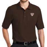 Brown Easycare Pique Polo-Bonnies Shield