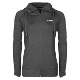 Ladies Sport Wick Stretch Full Zip Charcoal Jacket-St. Bona