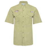 Columbia Bonehead Khaki Short Sleeve Shirt-Official Logo