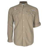 Columbia Bahama II Khaki Long Sleeve Shirt-Bonnies Shield