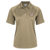 Ladies Vegas Gold Textured Saddle Shoulder Polo-Bonnies Shield