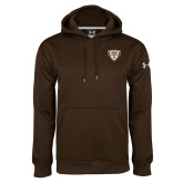 Under Armour Brown Performance Sweats Team Hoodie-Bonnies Shield