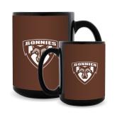 Full Color Black Mug 15oz-Bonnies Shield