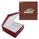 Red Mahogany Accessory Box With 6 x 6 Tile-Official Logo