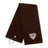 Brown Golf Towel-Bonnies Shield