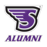 Alumni Decal-Alumni, 6 in. tall