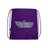 Nylon Purple Drawstring Backpack-Stonehill Skyhawks