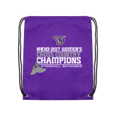 Purple Drawstring Backpack-2017 Womens Cross Country Champions