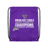 Purple Drawstring Backpack-2017 Mens Cross Country Champions