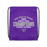 Purple Drawstring Backpack-Womens Tennis Regular Season Champions