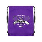 Purple Drawstring Backpack-2018 Womens Tennis Champions