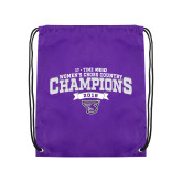 Purple Drawstring Backpack-2018 17 Time NE10 Womens XC Champions