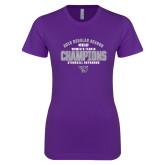 Next Level Ladies SoftStyle Junior Fitted Purple Tee-Womens Tennis Regular Season Champions