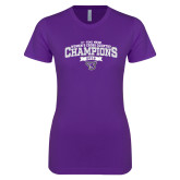 Next Level Ladies SoftStyle Junior Fitted Purple Tee-2018 17 Time NE10 Womens XC Champions