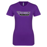 Next Level Ladies SoftStyle Junior Fitted Purple Tee-Cross Country