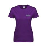 Ladies Purple T Shirt-Stonehill Skyhawks