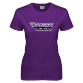 Ladies Purple T-Shirt-Cross Country