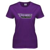 Ladies Purple T Shirt-Cross Country