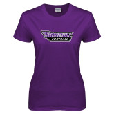 Ladies Purple T-Shirt-Football
