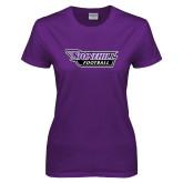 Ladies Purple T-Shirt-Football