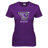 Ladies Purple T-Shirt-Mom