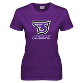 Ladies Purple T-Shirt-Alumni