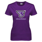 Ladies Purple T-Shirt-Grandma