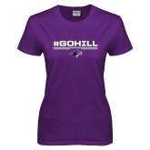 Ladies Purple T Shirt-#GoHill
