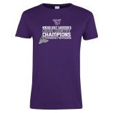 Ladies Purple T-Shirt-2017 Womens Cross Country Champions