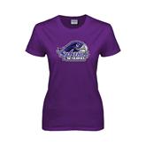 Ladies Purple T Shirt-Official Logo