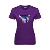 Ladies Purple T Shirt-S