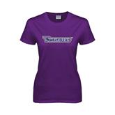Ladies Purple T Shirt-Skyhawks