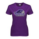 Ladies Purple T Shirt-Field Hockey