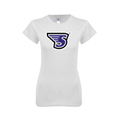Next Level Ladies SoftStyle Junior Fitted White Tee-S