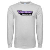 White Long Sleeve T Shirt-Stonehill Skyhawks