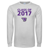 White Long Sleeve T Shirt-Class of Personalized Year, Personalized Year