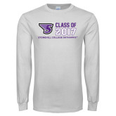 White Long Sleeve T Shirt-Class of Stacked Personalized Year, Personalized Year