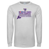 White Long Sleeve T Shirt-2017 Mens Cross Country Champions