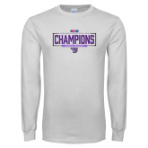 White Long Sleeve T Shirt-2018 Womens Indoor Track and Field Champions