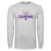 White Long Sleeve T Shirt-Womens Basketball Regular Season Champions