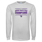 White Long Sleeve T Shirt-Womens Indoor Track and Field Champions