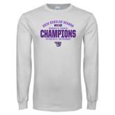 White Long Sleeve T Shirt-Womens Tennis Regular Season Champions