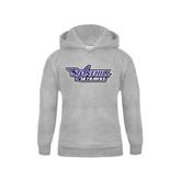 Youth Grey Fleece Hood-Stonehill Skyhawks